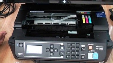 Steps How To Change Ink Cartridge Epson Wf 2630 In 2021 Ink Cartridge Epson Epson Printer