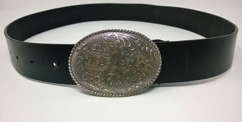 Nine West 1996 Ladies Genuine Black Leather Belt 1.5