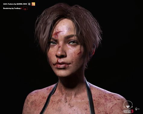 Sweat and Injured 3D Art by Chen Wang CHEN WANG is a 3D Arist from