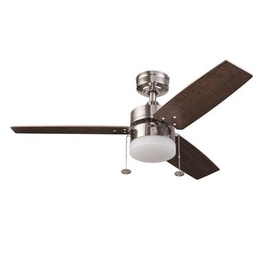 Prominence Home Ceiling Fan 41134 1 Pack Orim 42 In Brushed Nickel Downrod Or Close Mount Indoor With Light Kit 3 Ceiling Fan With Light Fan Light Ceiling Fan