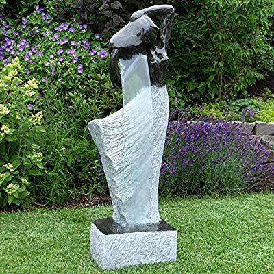 Wohaga Led Gartenbrunnen Zimmerbrunnen 117x40x28cm Brunnen Luftbefeuchter Zierbrunnen Fur Innen Aussen Amazon De Garten