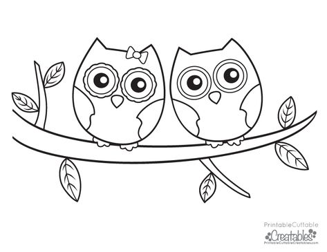 003 Owls Couple Free Coloring Page Png 793 612 Owl Coloring