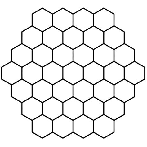 Hexagon Honeycomb Tessellation coloring page from
