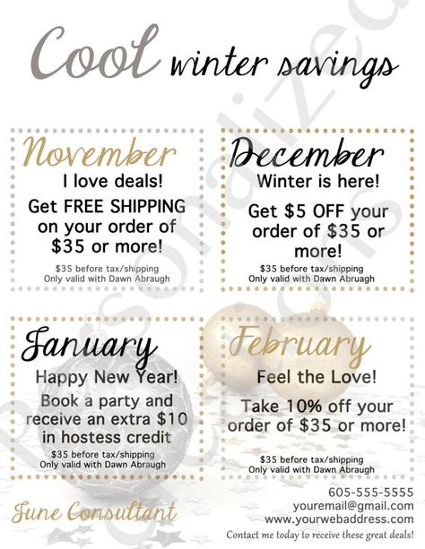 Printable Coupons for Your Direct Sales by Sweetcrystal135 on Etsy