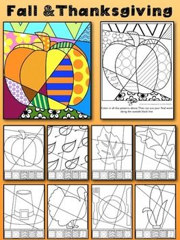 "Fall and Thanksgiving Art Activity: ""Pop Art"" Interactive"
