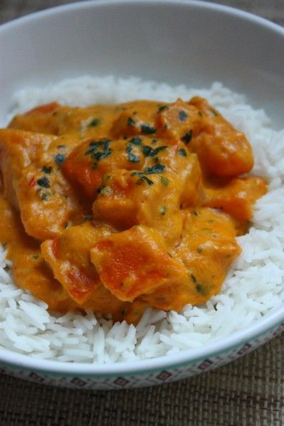 Curry de potimarron à la crème de coco #vegan