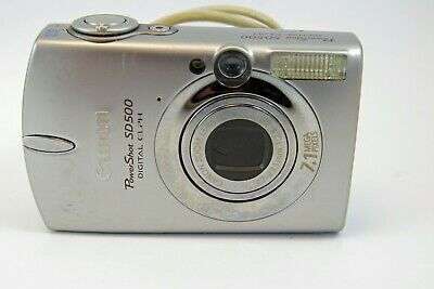 Canon Powershot Sd500 7 1mp Digital Camera Silver Digital Camera Camera Digital