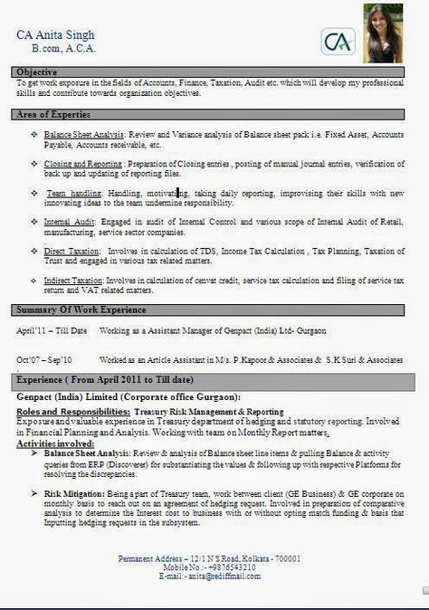 cv layout tips Sample Template Example ofExcellent Curriculum - finance report format