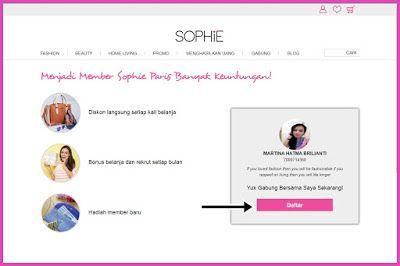 Daftar Member Sophie Paris Online Petunjuk Gambar