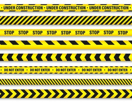 Yellow And Black Barricade Construction Tape Police Warning Line Brightly Colo Ad Construction T Illustration Vector Illustration Digital Illustration