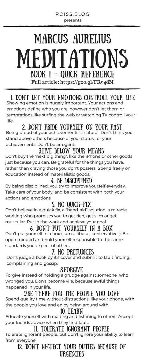 [Image]Marcus Aurelius - Meditations: Book I principles