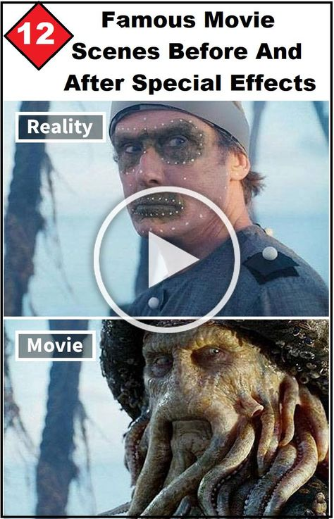 12 Famous #Movie Scenes Before And After Special Effects #Hollywood #Amazing #WTF #Weird #facts