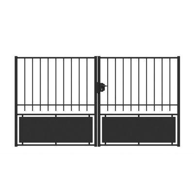Portail Fer Chatillon Noir 300 X H 160 Cm En 2020 Portail En Fer Portail Et Castorama