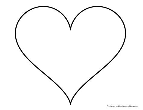 Super Sized Heart Outline \u2013 Extra Large Printable Template