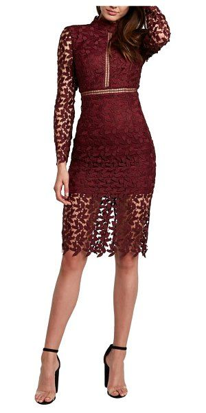 Bardot Alberta Lace Long Sleeve Body Con Dress | Bodycon