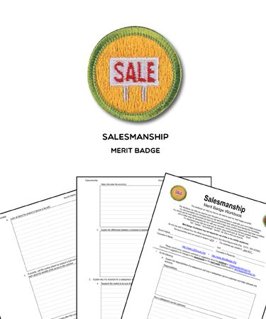 Salesmanship Merit Badge Workbook Requirements Merit Badge Badge Boy Scouts Merit Badges