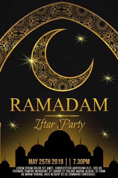 Ramadan Iftar Party Poster Template Ramadan Poster Ramadan Poster Template