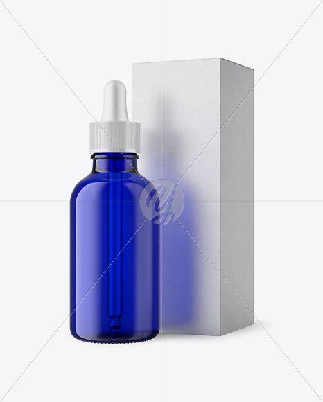 Download Download 50ml Blue Glass Dropper Bottle W Kraft Box Mockup Psd Free Mockup Templates Glass Dropper Bottles Bottle Mockup Blue Glass Bottles