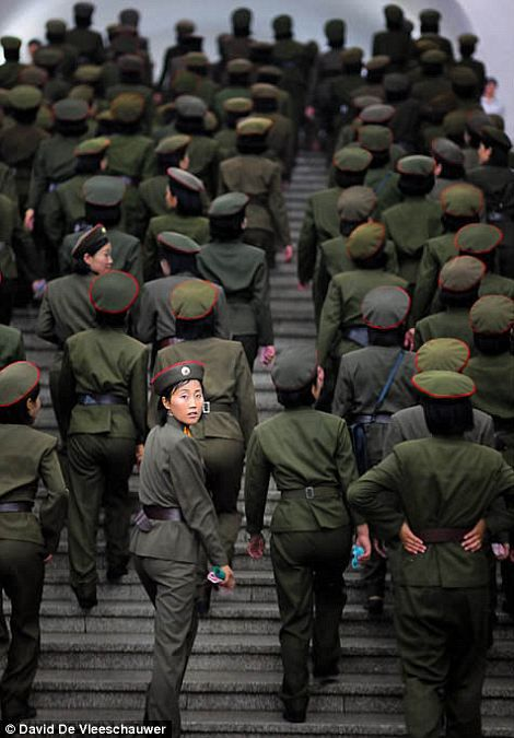 North Korea where all girls are drafted.