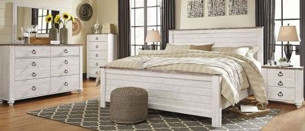 Willowton Whitewash Panel Bedroom Set In 2020 Bedroom Furniture Design Cheap Bedroom Furniture Discount Bedroom Furniture