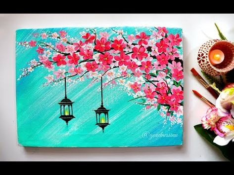 Looking for something to paint on canvas? Get some inspiration with these 41+ easy painting ideas- perfect for the beginner artist. Use in home decor, paint nights, etc..