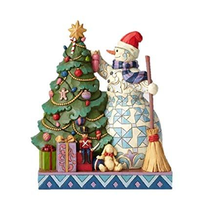 Jim Shore Christmas Snowman Collectables 2020 Enesco Jim Shore Heartwood Creek Snowman Decorating Tree Figurine