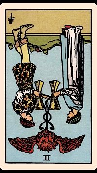 The Card of the Day: The Two of Cups (Reversed)