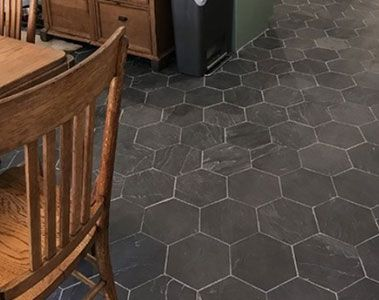 Black Hexagon Kitchen Floor Tiles Kitchen Flooring Hexagon Tile Kitchen Floor Flooring