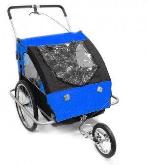 Remorque de vélo / poussette bleu et noir pour enfants - DEAL Osmoz Remorque de vélo - Vente Privée