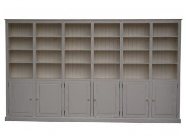 Solid Wood 7ft X 12ft Bookcase Display Unit With Doors Painting Bookcase Bookcase Built In Shelves