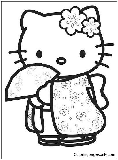Hello Kitty Cute Coloring Page Hello Kitty Colouring Pages Hello Kitty Coloring Kitty Coloring