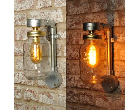 The jones jar wall light new industrial style vintage retro lighting