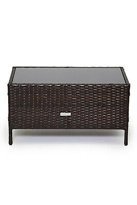 Outdoor Rattan Garden Furniture 4 Piece Set Chairs Sofa Table Patio Madrid Brown Ebay