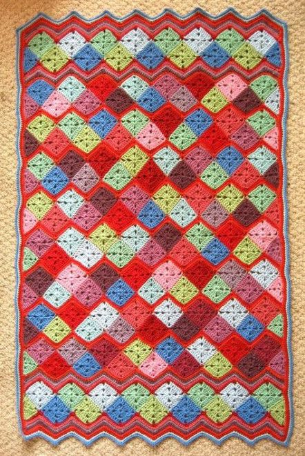Trendy Crochet Granny Square Blanket Ripple Afghan Attic 24 54 Ideas Crochet Crochet Granny Square Blanket Baby Blanket Pattern Baby Blanket Knitting Pattern