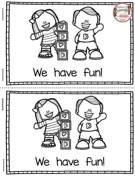 FREE Back to School in Kindergarten printables - Reading comprehension - fluency - writing and emergent reader - back to school in kindergarten - welcome to kindergarten FREEBIE unit - kindergarten reading and writing #kindergarten #backtoschool #kindergartenreading