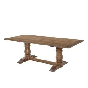 Acme Furniture Leventis Weathered Oak Dining Table 74655 Double Pedestal Dining Table Pedestal Dining Table Dining Table