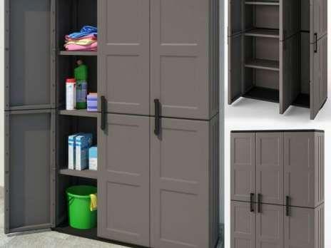 Armoire De Rangement Triple En Pvc Armoire Jardin Outils 26757790 Tall Cabinet Storage Tall Storage Storage