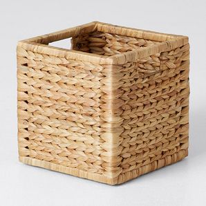 NEW Arrow Weave Design Cube Basket With Handle Storage Organiser Decor 27cm