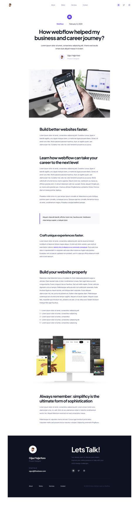 Portfolio: Landing Page