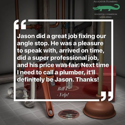 Proudly Delivering Five Star Service Across The Bay Area Thank You Bill T For This Yelp Review Alligatorplumbing Sewer Repair Plumbing Drains