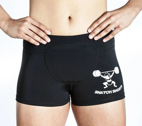 Female Compression Snatch Shorts | Women's Powerlifting Shorts - Born Primitive; Size Medium