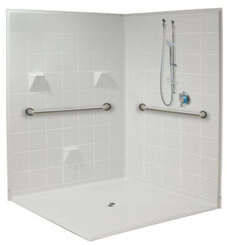 Corner Shower Accessible 60 X 60 Inch With Images Accessible