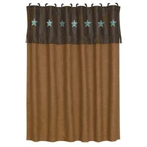 Laredo Turquoise Star Western Shower Curtain By Hiend Accents Delectablyyours Western B With Images Western Shower Curtain Western Shower Curtain Turquoise Shower Remodel