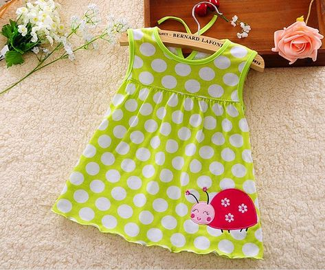 Infant Baby Girl Dress Cotton Regular Sleeveless Dresses Casual Clothing 0-24 BE