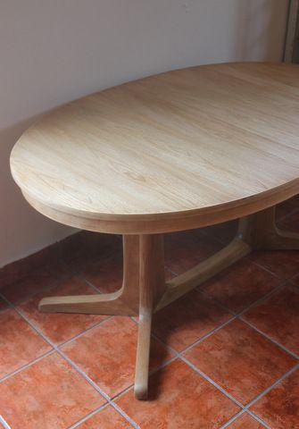 Mesa ovalada de comedor, en teca y olmo | La tienda de Etxekodeco ...