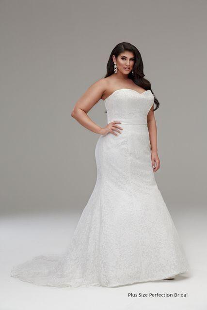 Strapless Mermaid Plus Size Wedding Dress Strapless Wedding