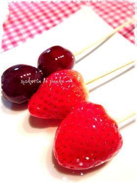 しない いちご 飴 失敗 失敗しないフルーツ飴の簡単な作り方を教えます♡ #おうち時間