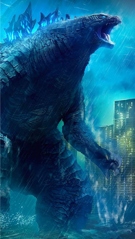 godzilla king of the monsters movie 4k art iPhone Wallpapers