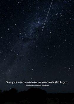 gif frase frases amor texto distância Amor a distancia cita estrella galaxia sentimientos desamor verso deseo fugaz siempre Lejos estrella fugaz kilometros seras constelaciones mi deseo