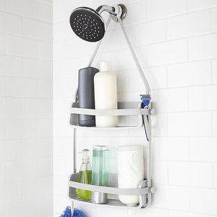 Umbra Grey Flex Shower Caddy Shower Caddy Shower Accessories Shower Tub
